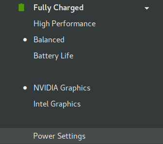 Performance/Balanced/Powersave and Nvidia/Intel switching!